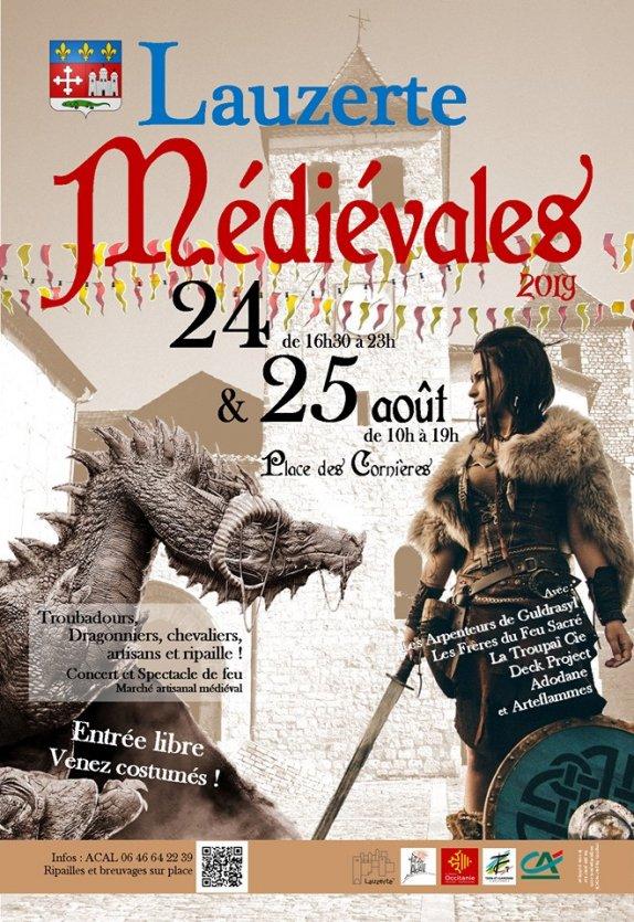 Affiche médiévales Lauzerte 2019