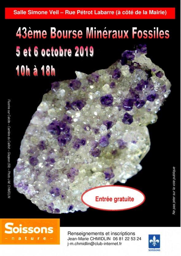 43ème bourse minéraux fossiles Soissons