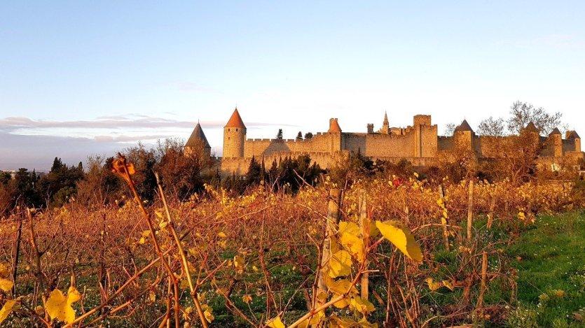 Vue d'automne sur la Cité médiévale de Carcassonne - © Grand Carcassonne Tourisme