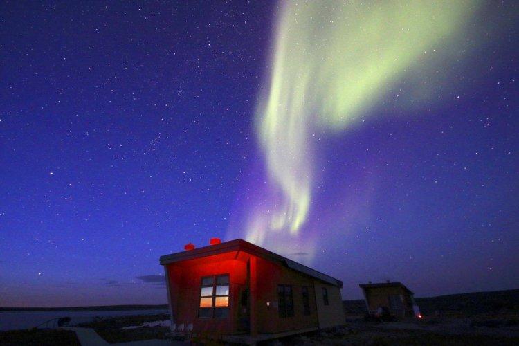 Aurore boréale dans le Nunavik. - © Martin Valois