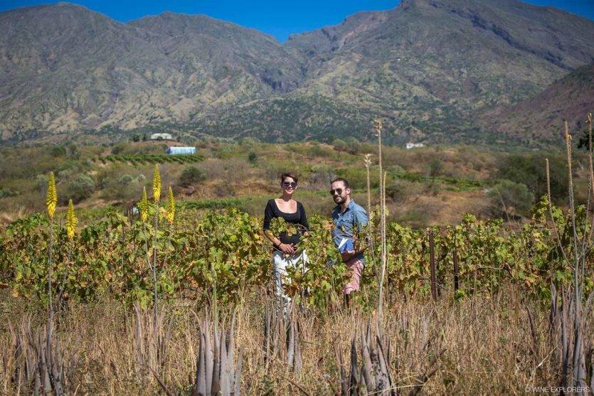 Cap-Vert, domaine maria Chaves, avec l'oenologue Christine Beisch - © Brice Garcin