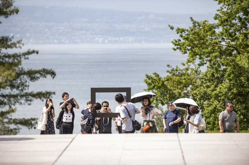 Entrée du Musée face Lac Léman - © Musée Olympique Lausanne