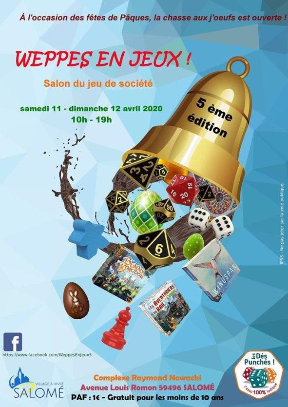 5ème édition du salon du jeu de société moderne WEPPES EN JEUX