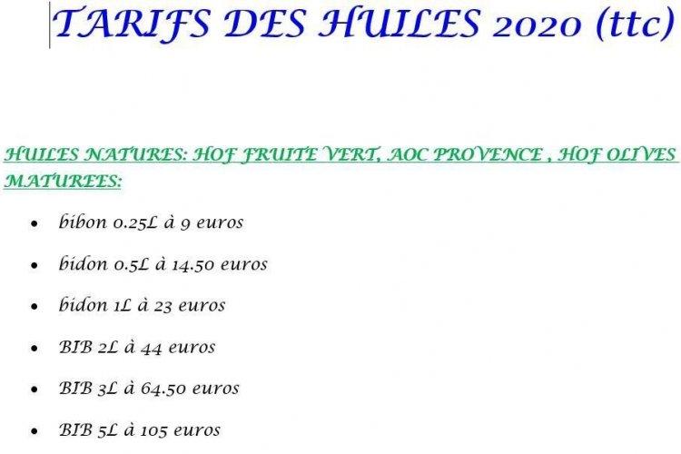 Tarifs Domaine du Jasson - © Domaine du Jasson
