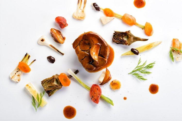 Agneau confit,légumes grillées, pommade de citron (Bruno D'angelis) - © Bruno D'angelis