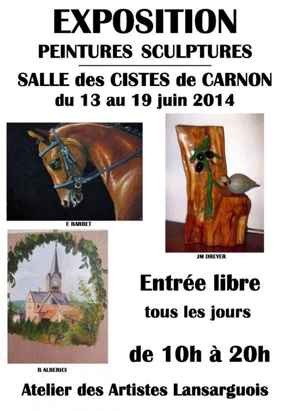 Affiche expo Carnon - © Stellart