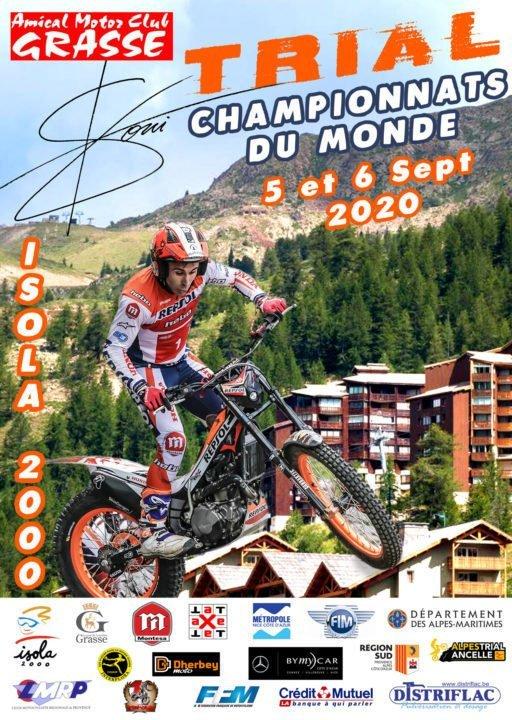 Affiche du championnat du Monde trial moto 2020 - © Amical Motor Club de Grasse