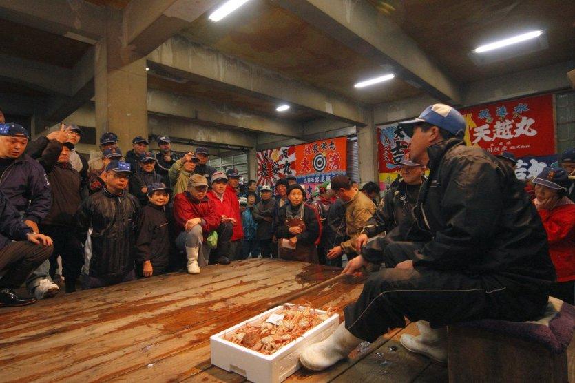 Vente de crabes d'Echizen - © Fukui Prefectural Tourism Federation