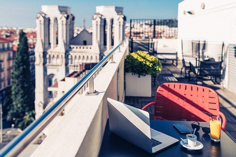 Vue depuis l'hôtel Mercure Nice Centre Notre-Dame - © DR