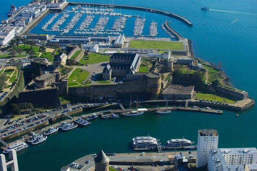 Musée national de la Marine à Brest vu du ciel - © Michel Le Coz