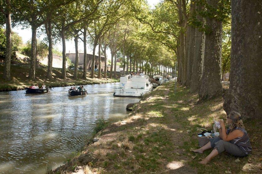 Canal du Midi à Trèbes. - © VNF_Philéas_Fotos_Daniel_Osso