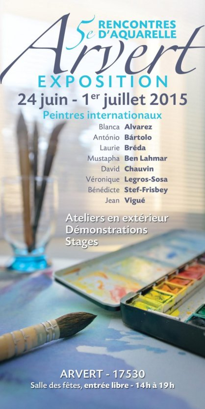 Rencontre aquarelle arvert 2017