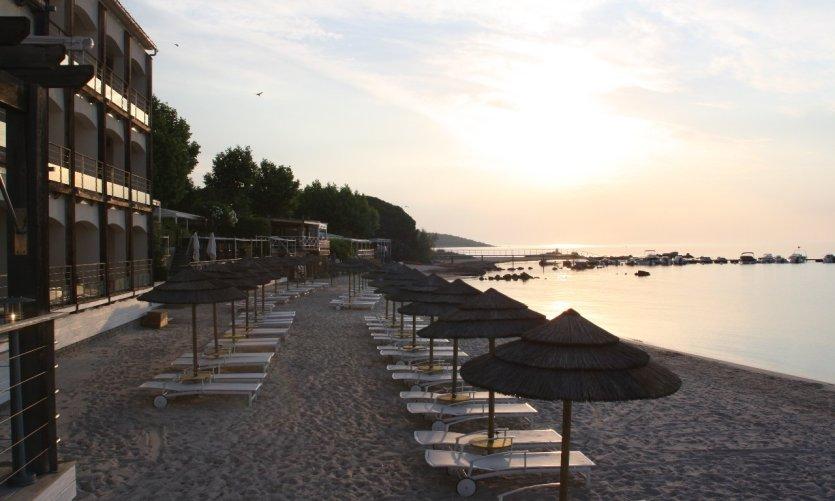Coucher de soleil sur la plage de Pinarello
