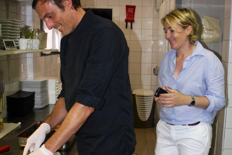 Fanny et Thomas Duval dans les cuisines du Terra Cotta - © Xavier BONNIN