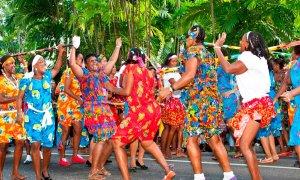 Festival créole à Mahé.
