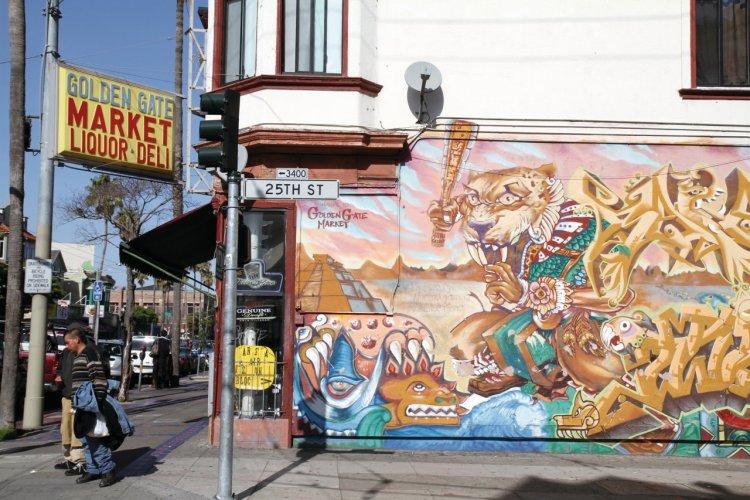 Fresque murale dans le quartier de Dolores. - © Stéphan SZEREMETA