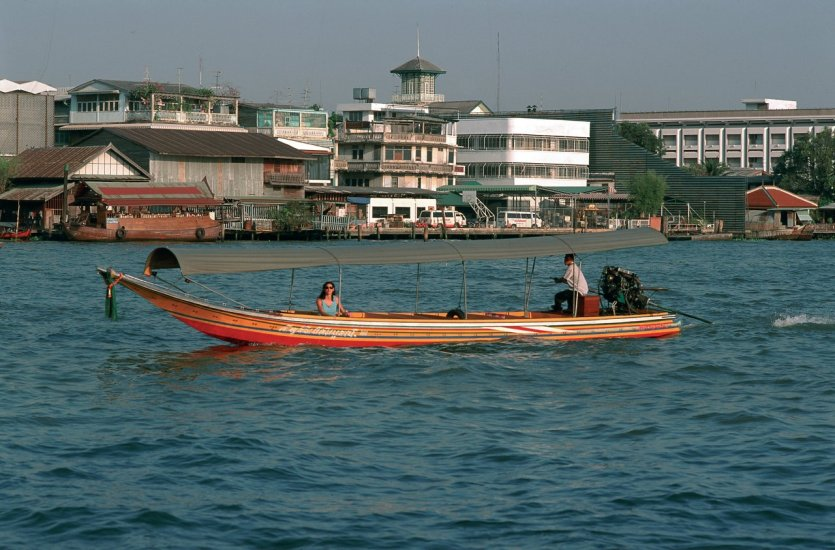 Barque sur le Chao Phraya.