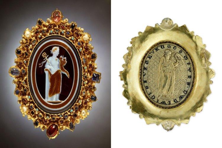 Onyx de Schaffhouse et son revers, onyx, gemme romain avec allégorie de la paix, 1ère moitié du 1er siècle ap. J. C. - © Museum zu Allerheiligen Schaffhausen