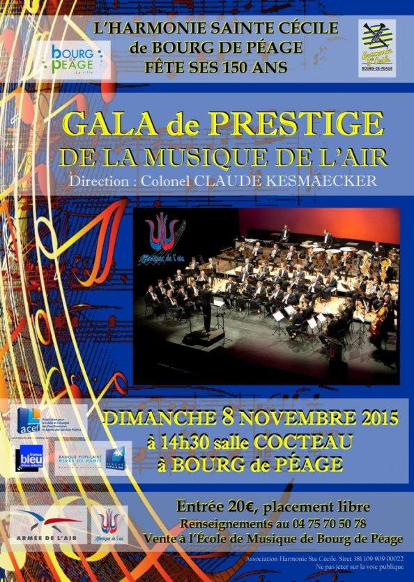 Gala de prestige de la musique de l 39 air bourg de p age for Piscine diabolo a bourg de peage
