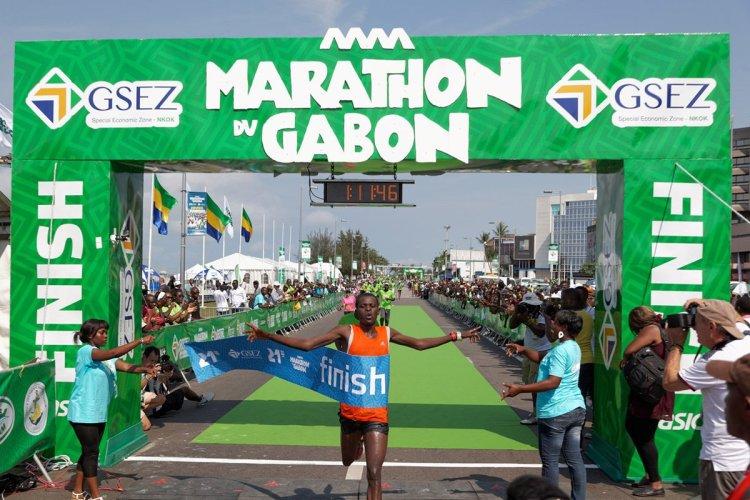 Après le Kenyan Peter Kurui en 2013, c'est l'Ethiopien Wosen Zeleke qui a remporté la 2e édition du Marathon du Gabon l'année dernière. - © Marathon du Gabon