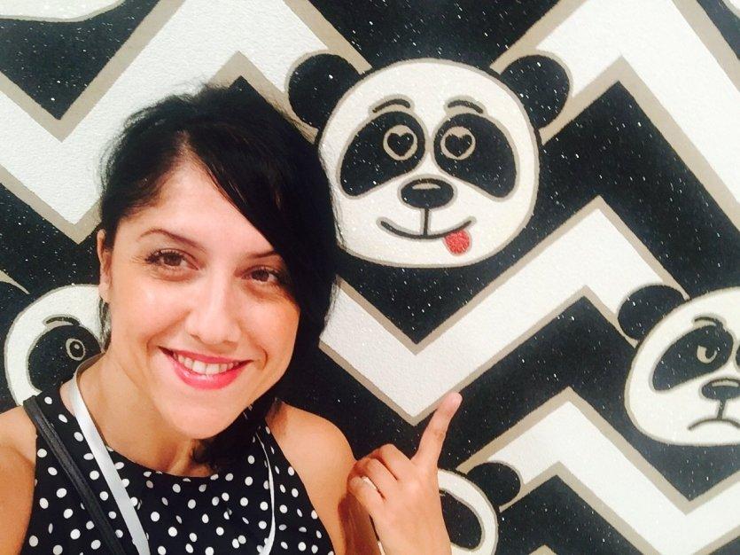 Panda delirium selfie-Art Basel-Miami Beach Convention Center