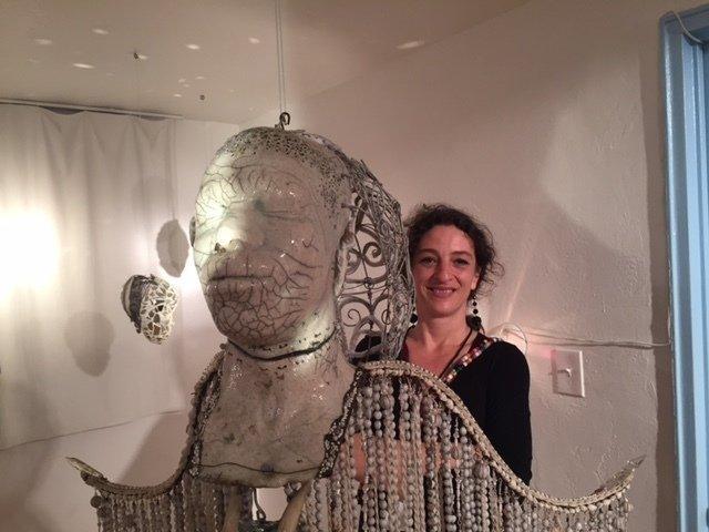 Pascale Monnin et son ange-Galerie Monnin-Aqua art Miami-Hotel Aqua