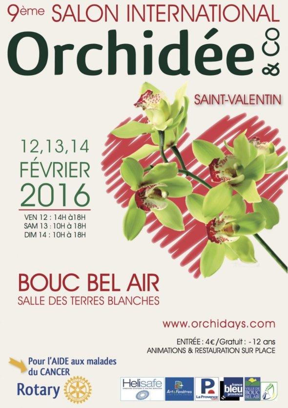 Affiche du 9è Salon International de l'Orchidée