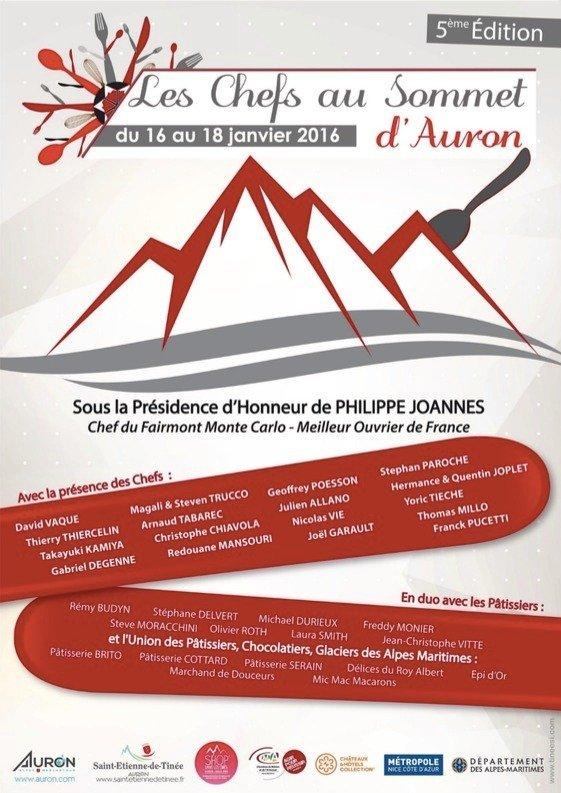 Les Chefs au Sommet d'Auron - © Maire de Saint Etienne de Tinée