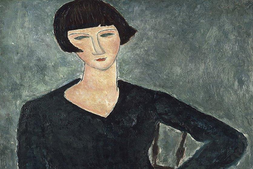 Amedeo Modigliani, Femme assise à la robe bleue, 1918-1919. - © Moderna Museet, Stockholm.