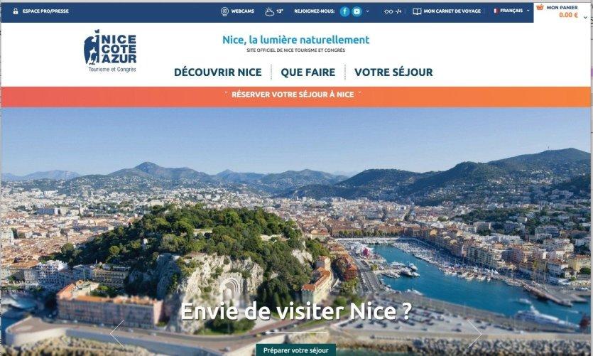 La promenade des anglais vue depuis le Château de Nice.