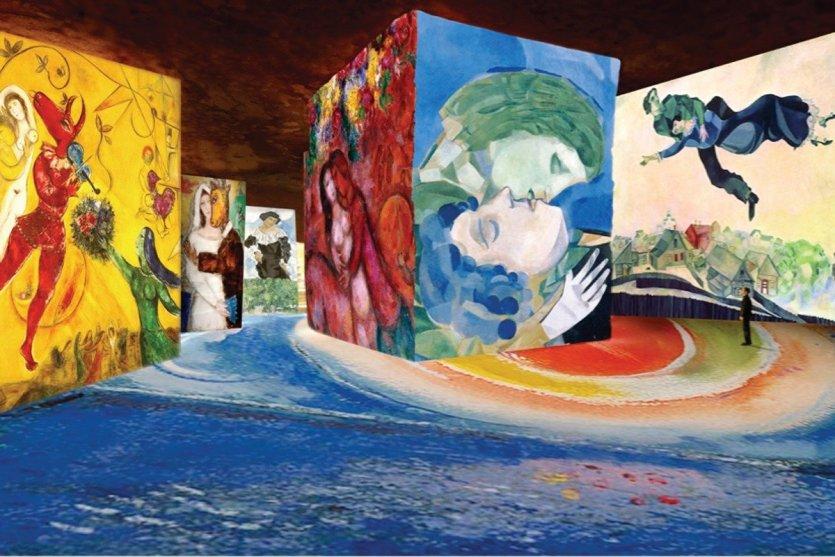 « Chagall, songes d'une nuit d'été », simulation #2 Marc Chagall. - © ADAGP, Paris, 2016.