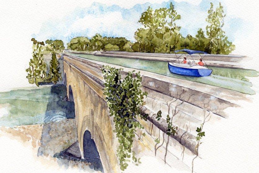 Pont canal sur la Cesse - © Laurence Malherbe