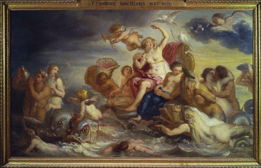 Le Triomphe de Galatée, Érasme Quellin, Huile sur toile, Collection privée. - © Jean-Louis Torsin