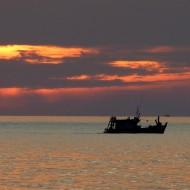 Sunset sur la plage d'Otrès à Sihanoukville
