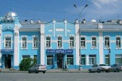 Immeuble Art nouveau du centre-ville d'Ekaterinburg. (© Stéphan SZEREMETA)