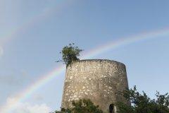 Ancien moulin, Marie-Galante. (© Gilles MOREL)