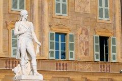 Statue de Bonaparte à l'entrée du Marengo Museum. (© Marengo Museum)