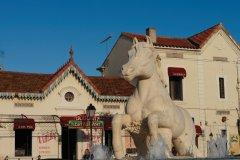 La statue Crin Blanc à Saintes-Maries-de-la-Mer (© Lawrence BANAHAN - Author's Image)