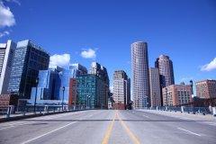 La skyline de Boston depuis Seaport. (© Astrid LATAPIE)