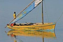 Dhow sur l'eau, vers Vilankulo. (© EcoPic)