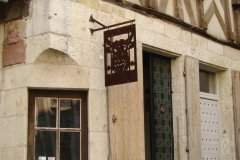 Maison à pans de bois de Noyers-sur-Serein. (© Julia Valentin)