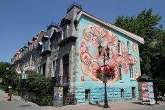 Fresque murale, rue Prince-Arthur Est. (© Stéphan SZEREMETA)