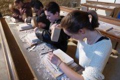Atelier taille de pierre. (© Abbaye de La Lucerne)