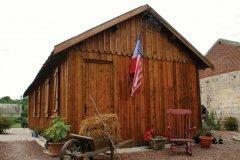 Reconstitution d'un baraquement type 1920, derrière les locaux de