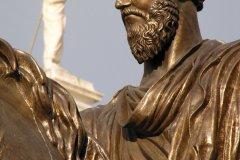 Piazza del Campidoglio (place du Capitole), statue équestre de Marc Aurèle par Michel-Ange devant la mairie de Rome. (© Stéphan SZEREMETA)