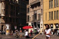 Joueur de cor des Alpes sur la Marktplatz. (© Philippe GUERSAN - Author's Image)