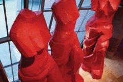 Musée Guggenheim, Trois Vénus espagnoles rouges, une oeuvre de Jim Dine. (© Philippe GUERSAN - Author's Image)