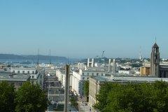 La rue de Siam surplombe la rade, Brest. (© Fortuné PELLICANO)