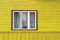 Façade d'une maison traditionnelle de la région de Bucovine. (© Alamer - Iconotec)