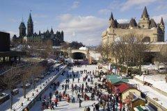 La patinoire du canal Rideau à Ottawa. (© Tourisme Ottawa)